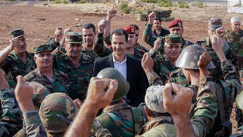 叙利亚总统视察西北前线