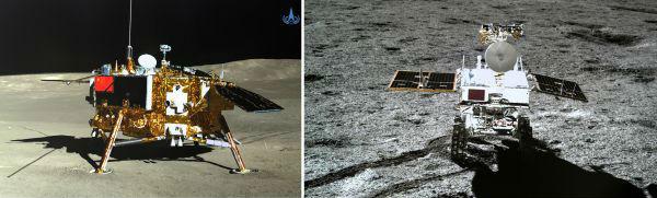 嫦娥四号与玉兔二号