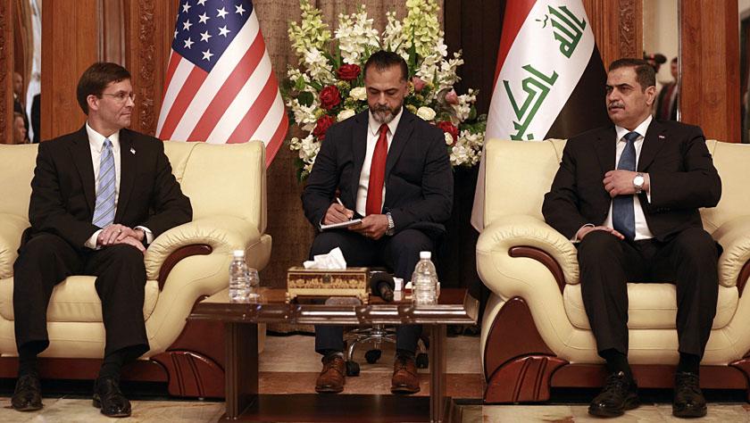 美防长访问伊拉克