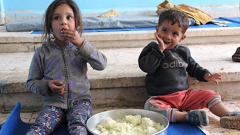 逃离战火的叙利亚流离失所者