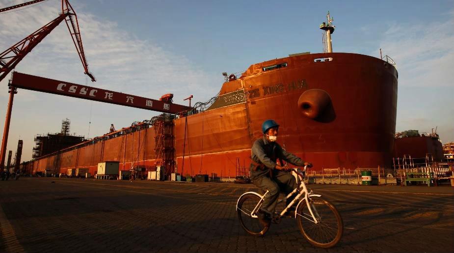 中国最大两家造船企业合并 市场份额逼近全球首位