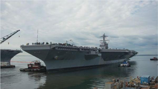 """美议员批""""福特""""号:投入130亿美元,买了艘驳船"""