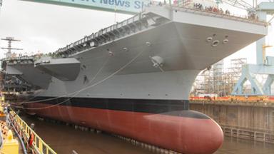 进度迅速!美军第二艘福特级航母将下水