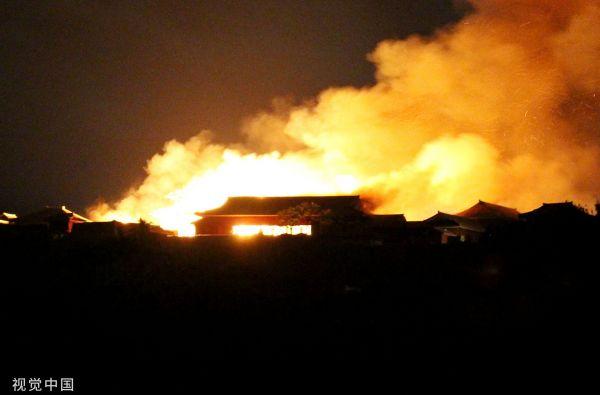 世界文化遗产日本首里城发生火灾 三大殿几乎全部烧毁