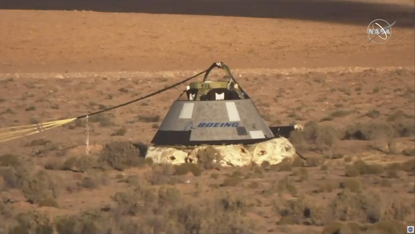 """美""""星际客机""""载人飞船完成发射台逃逸测试"""
