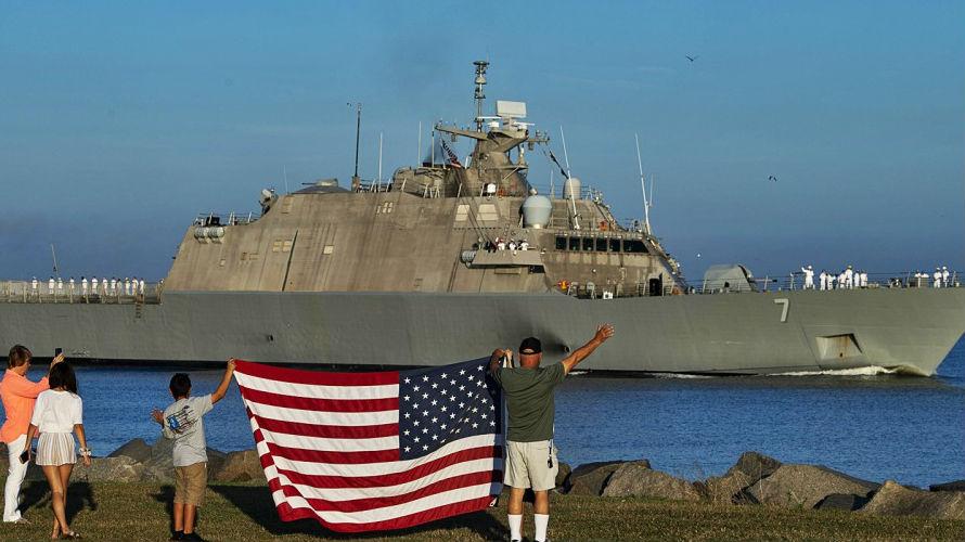"""美首次部署""""底特律""""号濒海战舰 将练打击中美洲海上走私"""