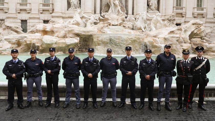 中意第四次警務聯合巡邏在羅馬啟動