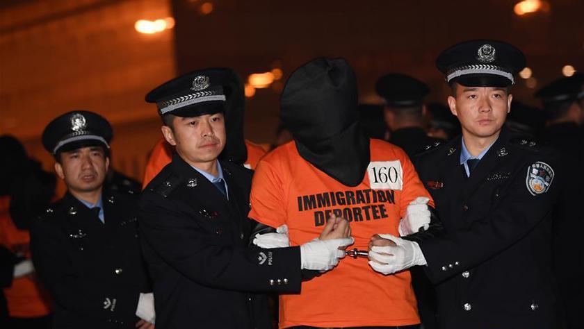 301名电信网络诈骗犯罪嫌疑人从菲律宾被押解回国