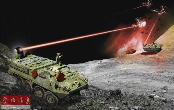 """美陆军将测试""""斯特莱克""""车载激光炮 2022年将部署4辆,习子规"""