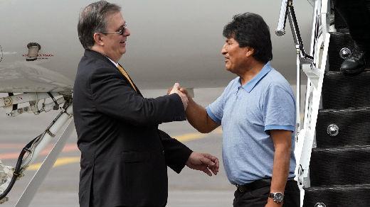 """外媒:莫拉莱斯感谢墨西哥总统的""""救命之恩"""""""
