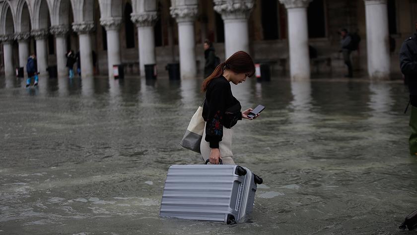 """意大利""""水城""""威尼斯遭遇严重水灾"""
