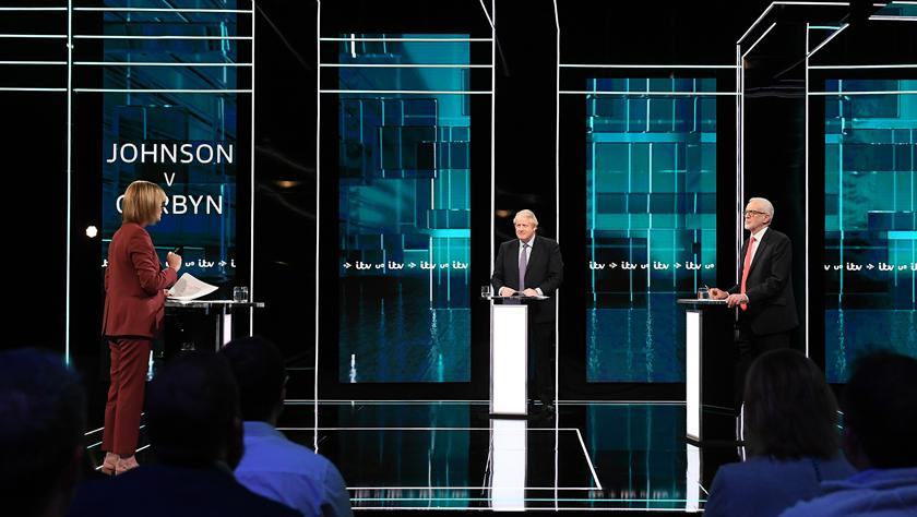 英国保守党和工党党魁参加电视辩论