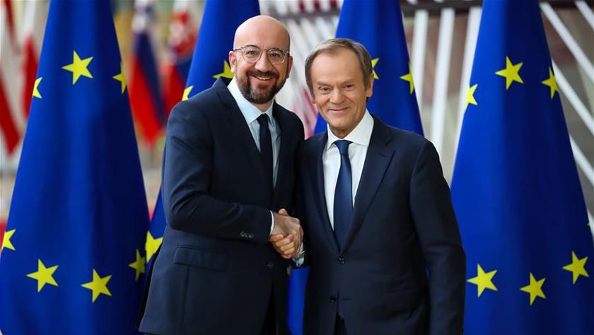 欧洲理事会举行主席交接仪式