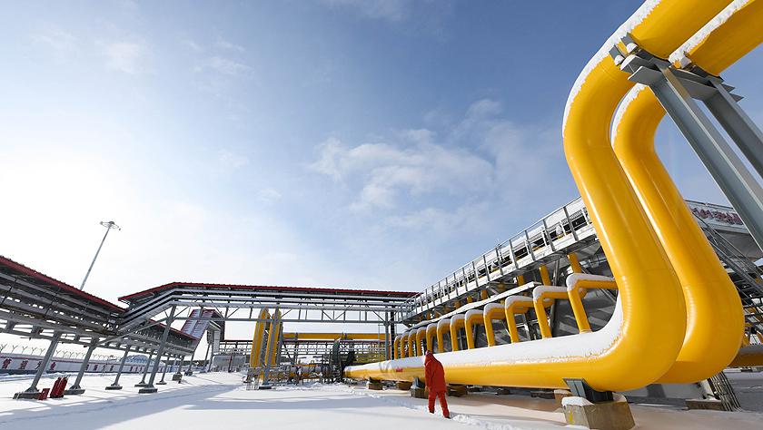 俄罗斯天然气通过中俄东线天然气管道正式进入中国
