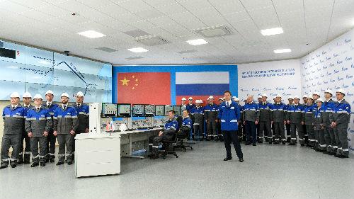 外媒:中俄元首见证东线管道通气