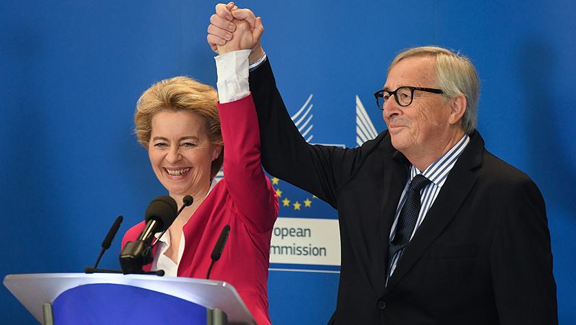 欧委会主席交接仪式在比利时布鲁塞尔举行