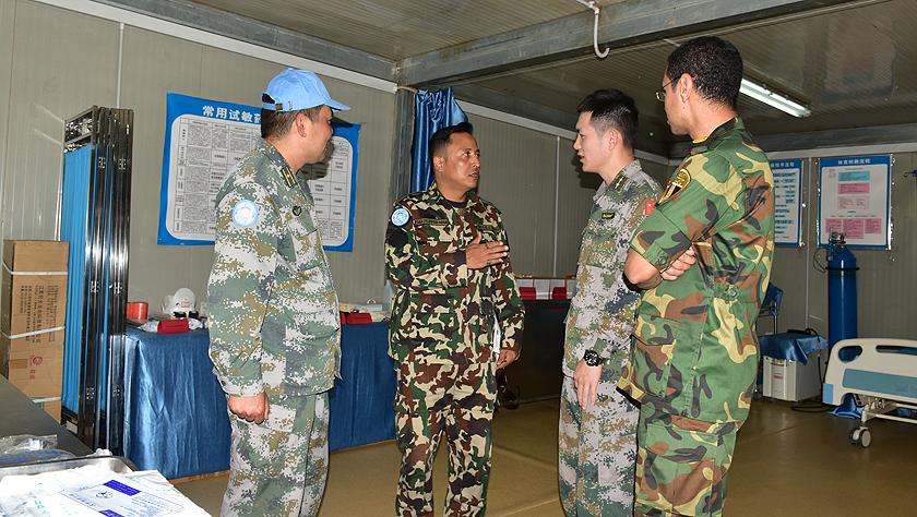 中國維和工兵分隊高標準通過聯非達團醫療衛生專項檢查評估
