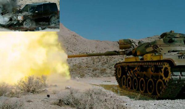 M60击碎路虎车!延迟摄影告诉你坦克主炮威力有多强