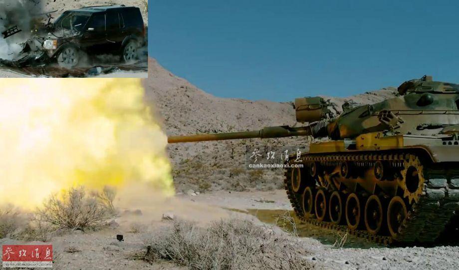 据美国FullMag视频近日报道,由美军迷录制的一段有关M60坦克击碎路虎车的延迟摄影直观展示了坦克主炮的杀伤力有多强。图为炮击路虎车的M60A1发射105毫米主炮瞬间,小图可见被击碎的路虎车。59