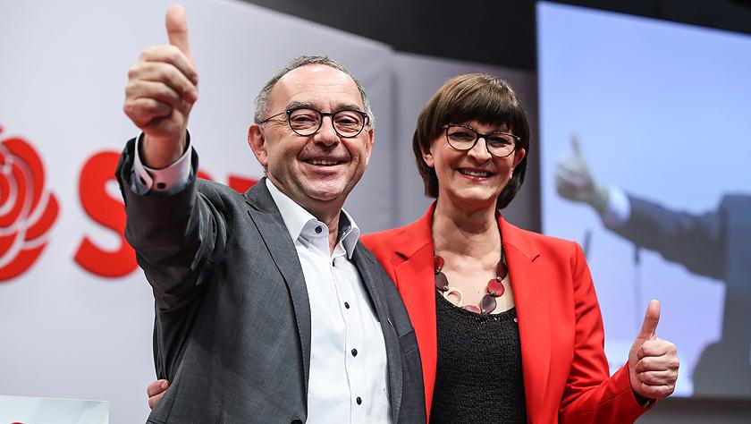 德国社民党双主席亮相全国党代会