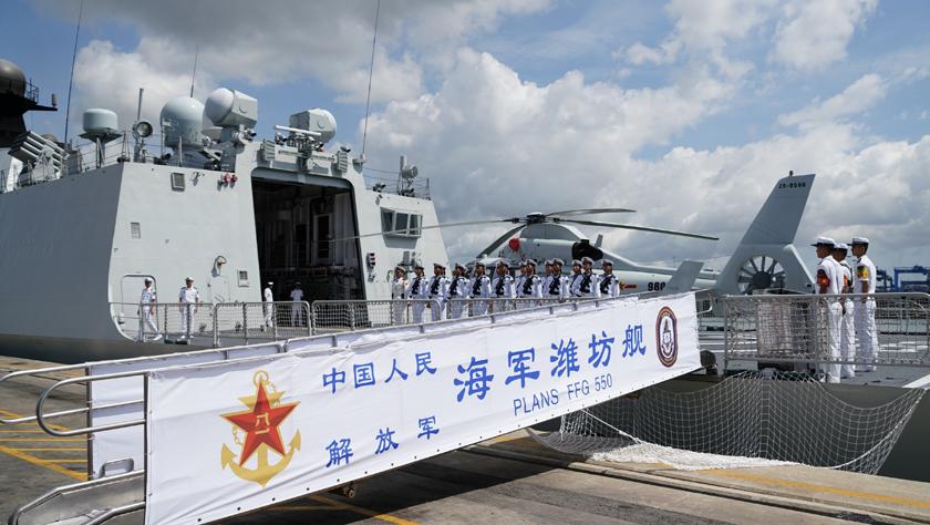 赢升娱乐28元体验金海军第33批护航编队潍坊舰技术停靠肯尼亚蒙巴萨港