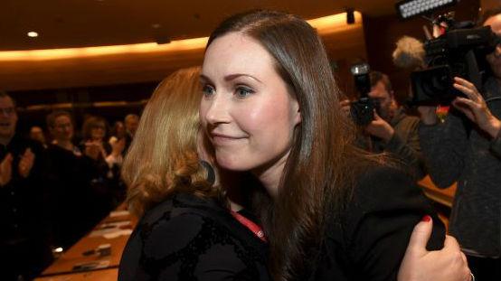 桑娜·马林当选芬兰总理 美媒:全球最年轻总理