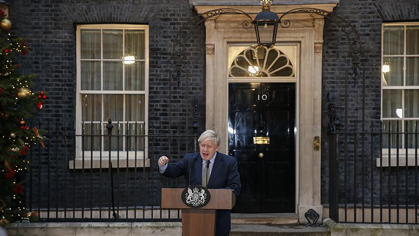 約翰遜就任英國首相發表演講