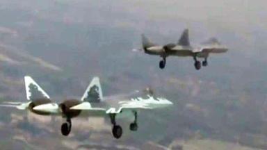 俄军苏-57隐身战机再赴叙利亚测试