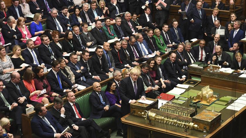 """英國議會下院原則同意不再延長""""脫歐""""過渡期"""