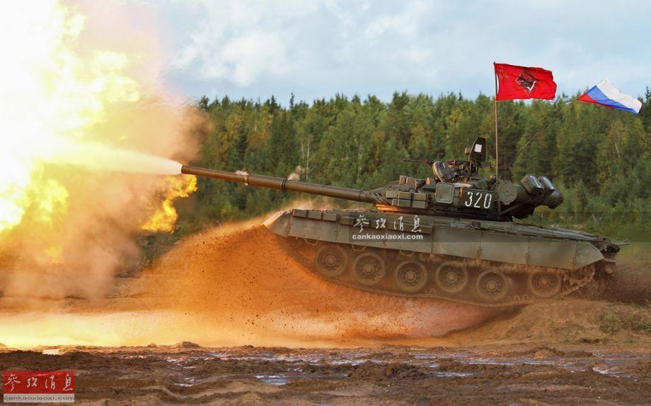 T-80是俄(苏)军列装的第一种、同时也是世界上第一种投入量产的以燃气轮机(由航空涡轮发动机改装而来,具有体积小、功率大等优点)为动力的主战坦克,实际由T-64坦克发展而来,早期型于1976年8月正式列装苏军,截至2015年,总产量已超过5500辆。