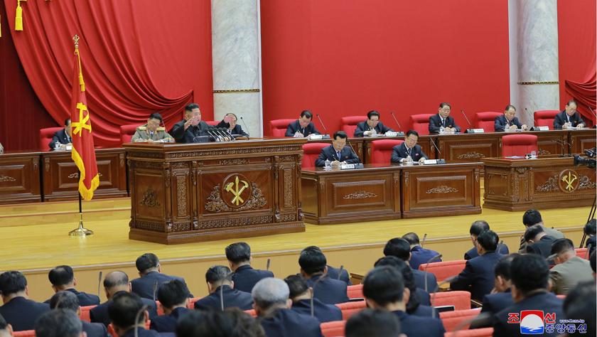 朝鲜劳动党七届五中全会开幕