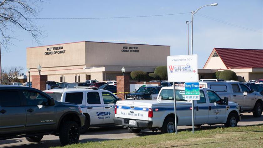 美国得克萨斯州一教堂发生枪击事件2人死亡