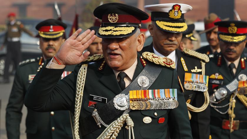 拉瓦特就任印度首任國防參謀長