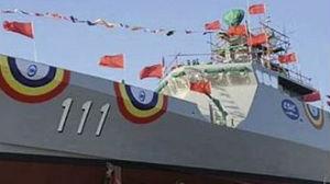 外媒:中国向马来西亚交付首艘濒海任务舰