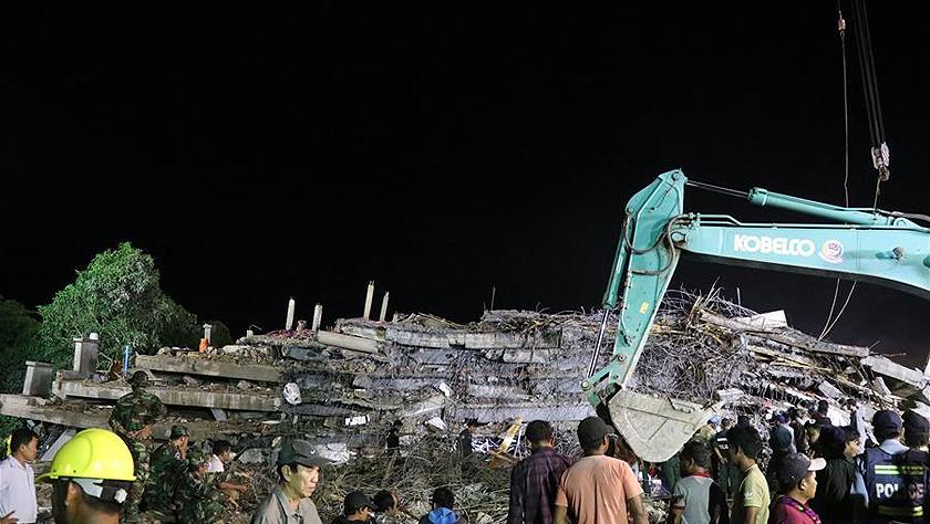 柬埔寨一在建樓房坍塌致6死16傷