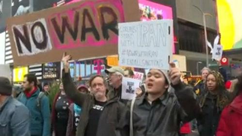 外媒:美数十座城市举行反战游行 反对为石油进行杀戮