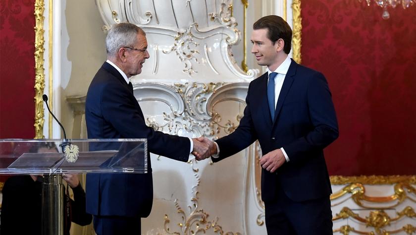 库尔茨领导的奥地利新政府就职