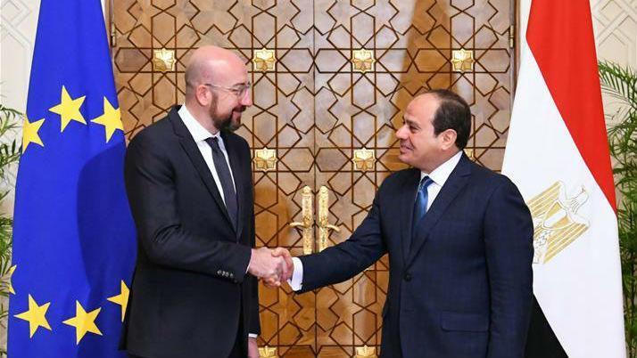 埃及总统塞西会见欧洲理事会主席米歇尔