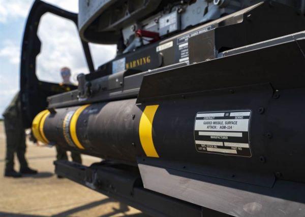 """AGM-114R9X是AGM-114""""地狱火""""导弹(如图)的秘密改型。(美国海军网站)"""