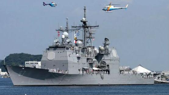 美巡洋舰再穿台湾海峡 中方:全程掌握