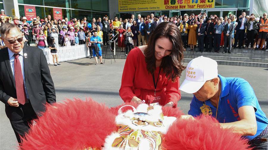 新西兰总理参加当地华人贺鼠年新春活动