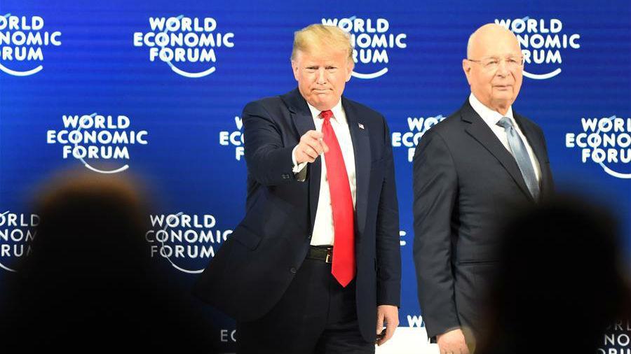 美国总统特朗普出席世界经济论坛2020年年会