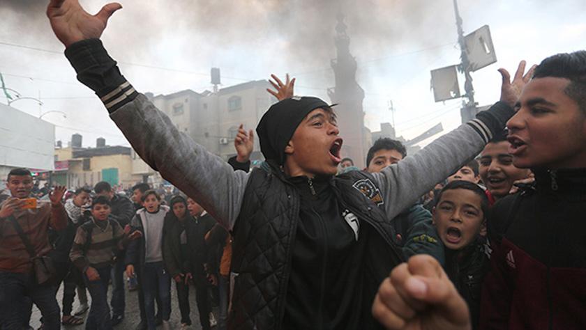 """巴勒斯坦民众抗议""""世纪协议"""""""
