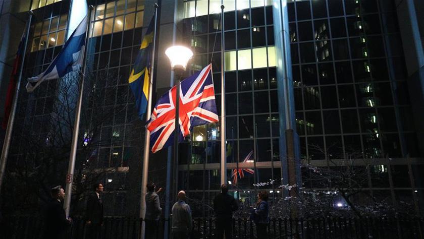 欧洲议会降下英国国旗