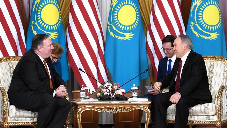 蓬佩奥访哈介绍美国中亚地区新战略