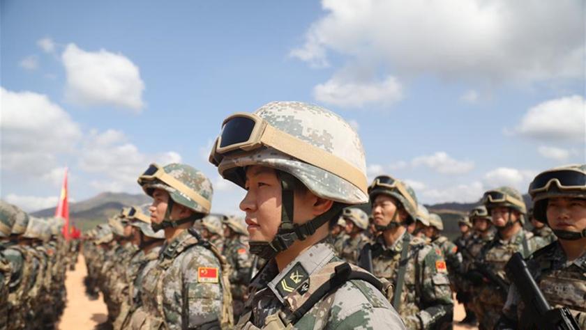"""""""金龙-2020""""中柬两军联合训练在柬埔寨开训"""