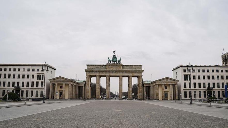 疫情下的柏林街头