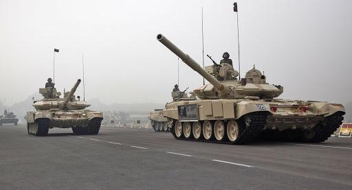 印度陆军从俄罗斯引进的T-90S坦克(印度国防部网站)