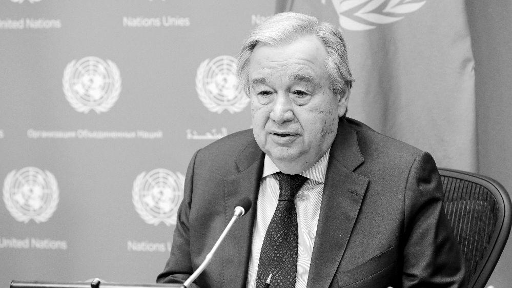 联合国秘书长呼吁全球合作抗疫