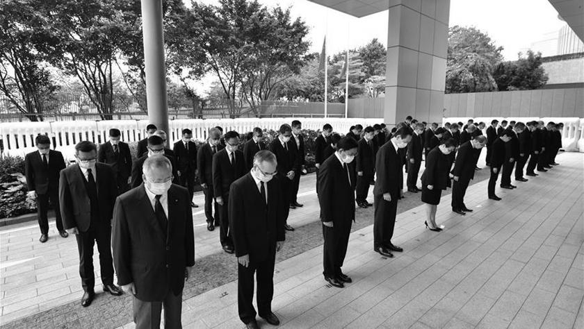 港澳各界悼念抗击新冠肺炎疫情牺牲烈士和逝世同胞